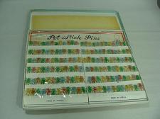 Buy NOS Vtg LOT 144 NOVELTY GRASSHOPPER BUG STICK PINS ORIGINAL BOX ON CARDS KOREA