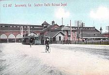 Buy Sacramento Cal. Southern Pacific Railroad Depot Vintage Postcard