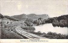 Buy Three Sisters Burlington Route Mississippi River Used 1912 Vintage Postcard
