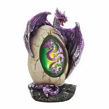 Buy *18625U - Purple Dragon Egg Statue LED Light