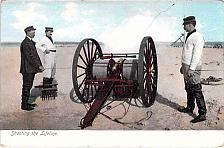 Buy Shooting the Liveline, Cannon at Beach Firing Unused Vintage Postcard