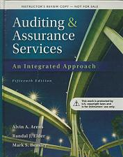 Buy Auditing and Assurance Services (NO CD) 15th INSTRUCTOR'S Review Copy NEW