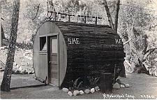 Buy At Robin Hood Camp, Restroom Outhouse Real Photo Vintage Postcard