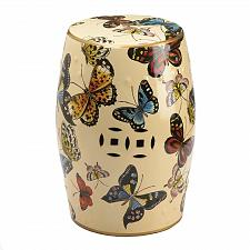 Buy *18737U - Butterflies In Flight Decorative Stool