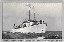 Buy US Navy, Trial Run of Super Sub-Chaser PC-589, WW II Vintage Postcard
