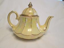 Buy G59p Vintage Pearl Luster Ware opalescent Gold Trim Pale Yelllow Teapot England