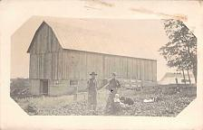 Buy Family Posing In Front of Their Barn Real Photo RPPC Vintage Postcard