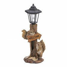 Buy *18808U - Friendly Squirrels Welcome Figure Garden Solar Lamp