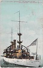 Buy U.S. Navy Battleship Kearsarge, Rare View Vintage Used Naval Postcard