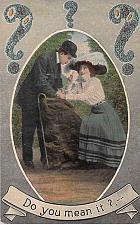 Buy Do You Mean It? Couple Vintage Romance Postcard