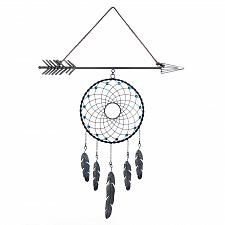 Buy *18375U - Arrow Plaque Blue Bead Dreamcatcher Wall Decoration