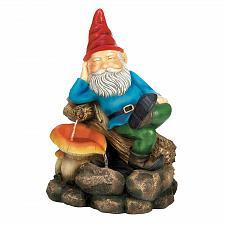 Buy *17067U - Relaxing Gnome Eyes Closed Water Fountain Yard Art Garden Decor