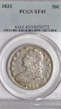 Buy 1833 CAPPED BUST HALF DOLLAR. PCGS GRADED XF-45. LOOKS UNDER GRADED.