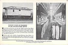 Buy 70 Years of Progress in Railway Post Office Burlington Route Vintage Postcard