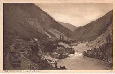 Buy Train In Frazer Canyon at Hells Gate British Columbia Railroad Vintage Postcard