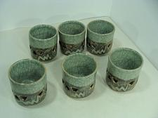Buy 6 Vintage Somayaki Hand Crafted Tea Cup Set Double-Walled Made in Japan EUC LotA