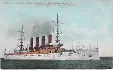 Buy U.S. Navy Armored Cruiser California Great White Fleet Vintage Postcard