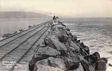 Buy Breakwater, Crescent City, California, Railroad Real Photo Vintage Postcard