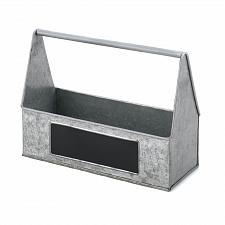 Buy *18573U - Galvanized Metal Chalk Board Picnic Caddy