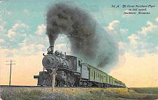 Buy The Great Northern Flyer at Full Speed Northern Montana Vintage Postcard