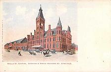 Buy Well St. Railroad Station, Chicago & North Western, RY. Chicago Vintage Postcard