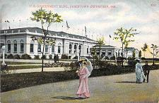 Buy 1907 U.S. Government Building Jamestown Exposition Used Postcard