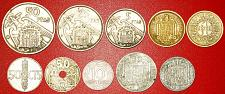 Buy § GENERALISSIMO FRANCO: SPAIN ★ SET 10 COINS (1936-1975)! LOW START★NO RESERVE!