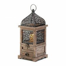 """Buy *18058U - Large 14 1/4"""" Flip-Top Wooden Candle Lantern"""