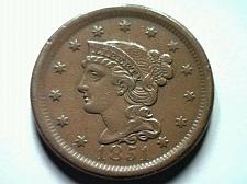 Buy 1851 LARGE CENT PENNY ABOUT UNCIRCULATED AU NICE ORIGINAL COIN FROM BOBS COINS