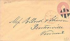 Buy U35 PSE Cover Boston Red Postmark, Cork Cancel to Proctosville Vt.