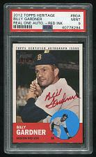 Buy 2012 TOPPS HERITAGE REAL ONE RED AUTO BILLY GARDNER PSA 9 MINT (40778294)