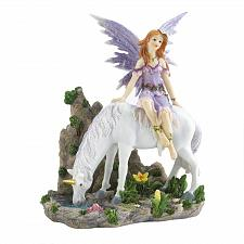 Buy *18600U - Lavender Fairy & White Unicorn Figurine