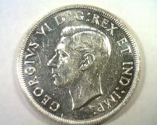 Buy 1945 CANADIAN DOLLAR GEORGE VI ABOUT UNCIRCULATED+ AU+ NICE ORIGINAL COIN