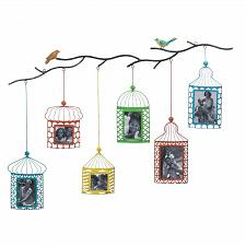 Buy *17100U - Birdcages On Branch Photo Frame Wall Art Sculpure