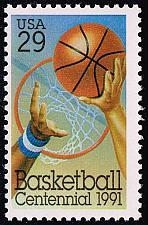 Buy US #2560 Basketball Centennial; MNH (0.60) (1Stars) |USA2560-02