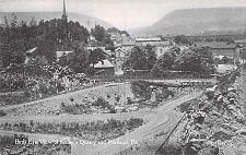 Buy Birds Eye View of Keller's Quarry and Portland PA Vintage Postcard