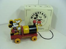 Buy DISNEY MICKEY MOUSE WOOD PULL TOY TRAIN WATCH DISPLAY ONLY NO WATCH INCLUDED