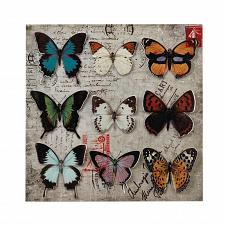 Buy *17432U - Beautiful Butterfly Collage Postcard Backdrop 3-D Iron Wall Art