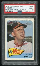 Buy 2014 TOPPS HERITAGE REAL ONE RED AUTO DON LEE PSA 9 MINT (40778333)