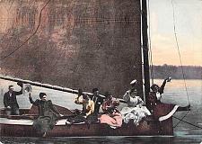 Buy Couples Cruising on Lake in Sailboat Vintage Romance Postcard