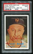 Buy 2006 TOPPS HERITAGE REAL ONE RED AUTO WINDY McCALL PSA 9 MINT (25403749)