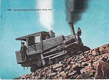 Buy Cog Road Engine Climbing Pike's Peak, Colo Vintage Postcard