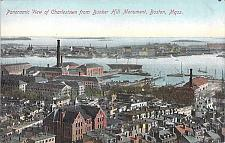 Buy Panoramic View of Charlestown From Bunker Hill Monument Vintage Postcard