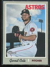 Buy 2019 TOPPS HERITAGE FRENCH BACK GERRIT COLE, #492
