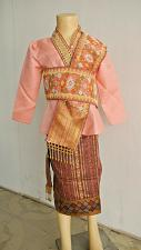 Buy Lao Laos Girl Tradition Dress Clothing 3/4 Seeve Blouse Sinh Skirt Size 10