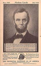 Buy Abraham Lincoln Patriotic Advertising Vintage Postcard