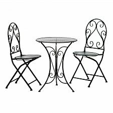 Buy *18742U - Chic Black Iron Bistro 3pc Set Folding Chair