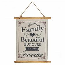 Buy *18387U - Every Family Is Beautiful Linen Wall Art