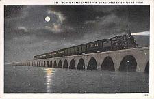 Buy Florida East Coast Train on Key West Extension at Night Unused Postcard