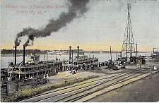 Buy Steamboats on the Missouri River at Fool of Main Street, Kansas City Postcard